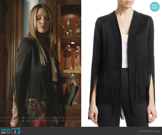 Cortado Fringe Jacket by Galvan worn by Dominique Deveraux (Michael Michele) on Dynasty