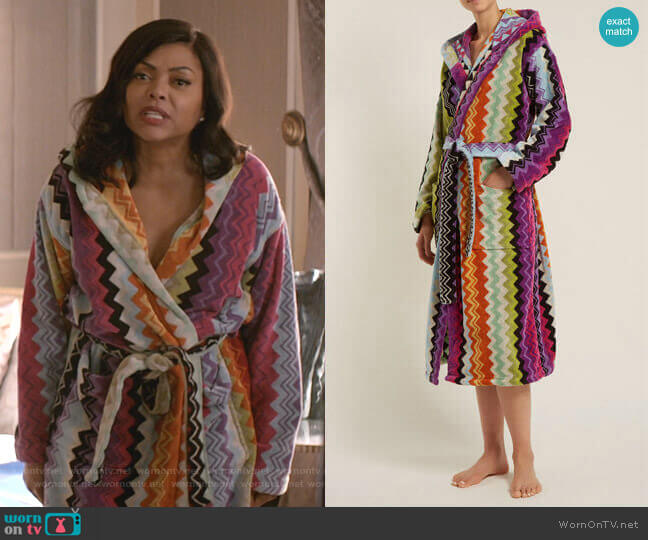 Giacomo Bathrobe by Missoni Home worn by Cookie Lyon (Taraji P. Henson) on Empire