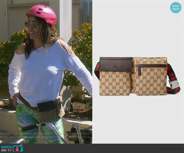 GG Canvas Belt Bag by Gucci worn by Kelly Dodd  on The Real Housewives of Orange County