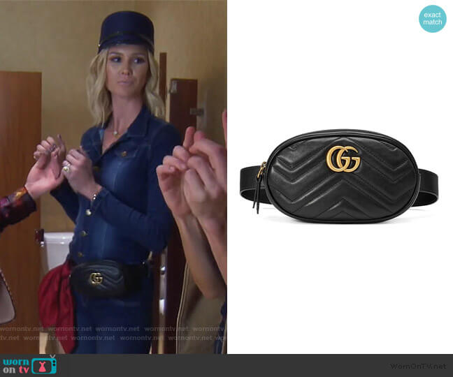 GG Marmont matelasse belt bag by Gucci worn by Meghan King Edmonds  on The Real Housewives of Orange County