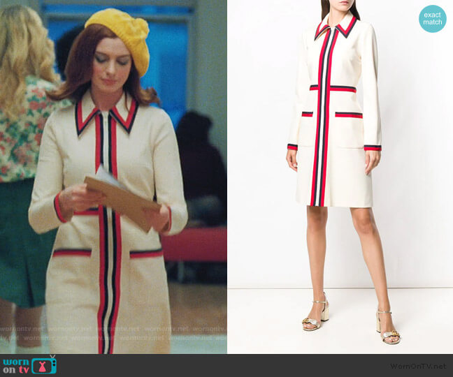 Classic Stripe Day Dress by Gucci worn by Lexi (Anne Hathaway) on Modern Love