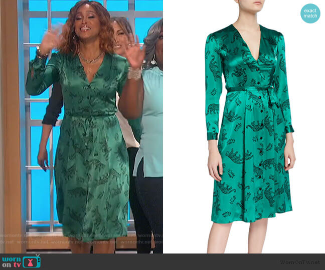 Lauren Button-Down Long-Sleeve Dress by HVN worn by Eve  on The Talk