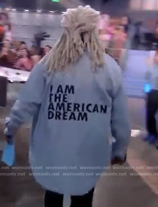 Whoopi's American Dream denim shirt on The View