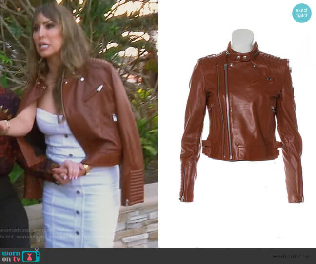 Luciana Jacket by IRO worn by Kelly Dodd  on The Real Housewives of Orange County