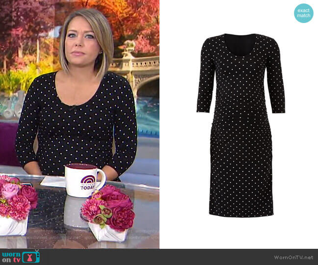 Wornontv Dylan S Black Polka Dot Maternity Dress On Today