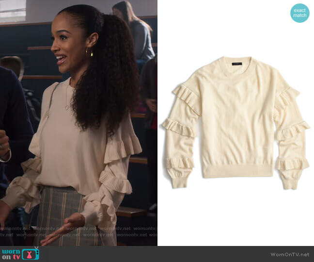 Ruffle Sleeve Sweater by J. Crew worn by Magnolia Barnard (Erinn Westbrook) on Insatiable