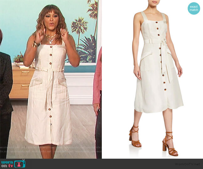 Bourey Linen Utility Midi Dress by Joie worn by Eve  on The Talk