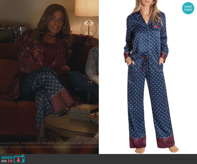 Long Pajamas by In Bloom by Jonquil worn by Poppy (Kimrie Lewis) on Single Parents