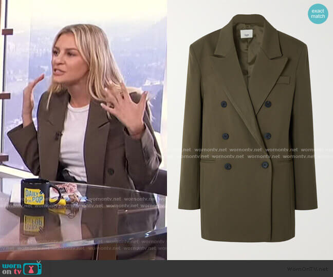 Julie Blazer by Frankie Shop worn by Morgan Stewart  on E! News