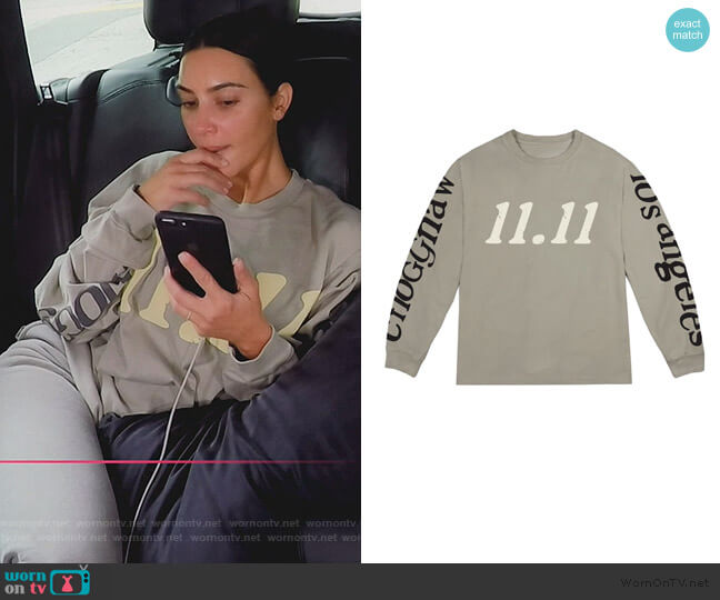 Kids See Ghosts by Kanye West worn by Kim Kardashian  on Keeping Up with the Kardashians