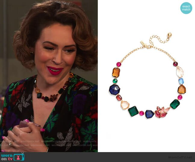 Mix Stone Necklace by Kate Spade worn by Coralee Armstrong (Alyssa Milano) on Insatiable