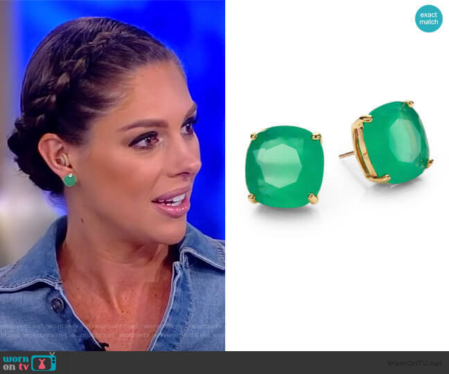 Small Square Stud Earrings by Kate Spade worn by Abby Huntsman  on The View