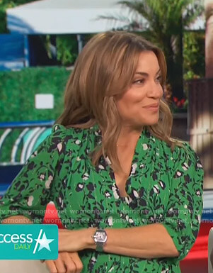 Kit's green floral dress on Access Hollywood