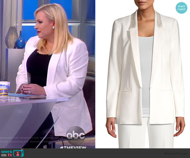 Carson Sequin Lapel Blazer by Kobi Halperin worn by Meghan McCain  on The View