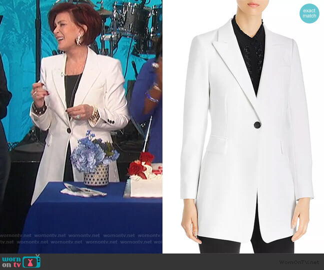Julianne Single-Button Blazer by Kobi Halperin worn by Sharon Osbourne  on The Talk