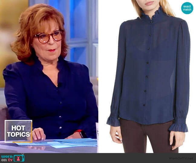 Carla Silk Blouse by L'Agence worn by Joy Behar  on The View