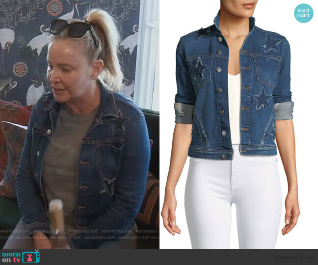 Celine Button-Down Denim Jacket by L'Agence worn by Shannon Beador  on The Real Housewives of Orange County