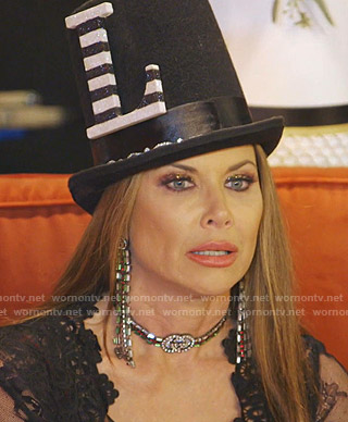 LeeAnne's Gucci Choker necklace and earrings on The Real Housewives of Dallas