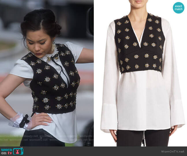 Leola Top by Elizabeth and James worn by Dixie Sinclair (Irene Choi) on Insatiable