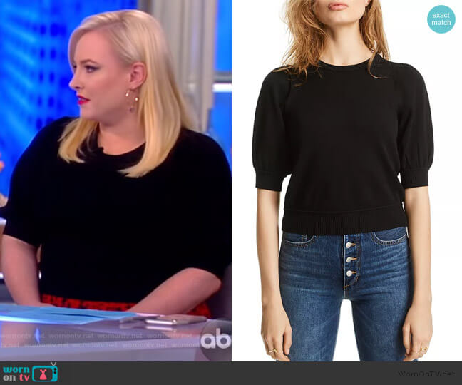 Abigail Puff-Sleeve Sweater by Lini worn by Meghan McCain  on The View