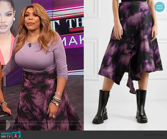 Tie Dye Wrap Skirt by Marques' Almeida worn by Wendy Williams  on The Wendy Williams Show