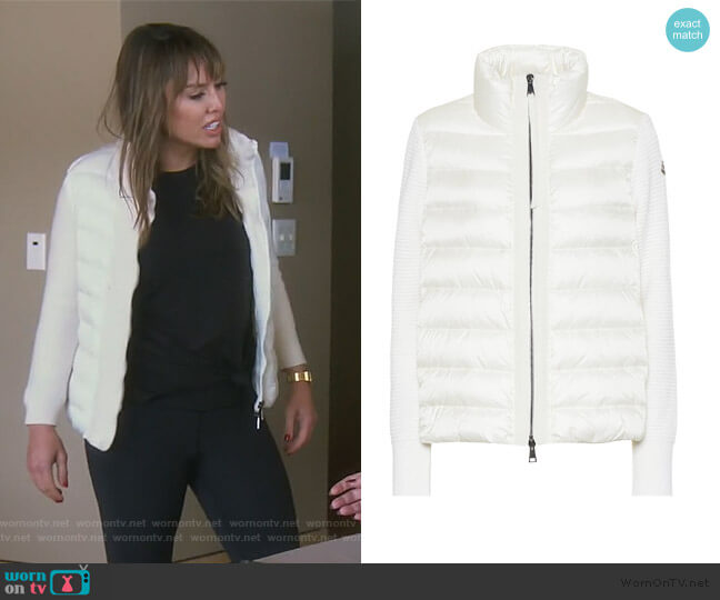 Wool and Down Jacket by Moncler worn by Kelly Dodd  on The Real Housewives of Orange County