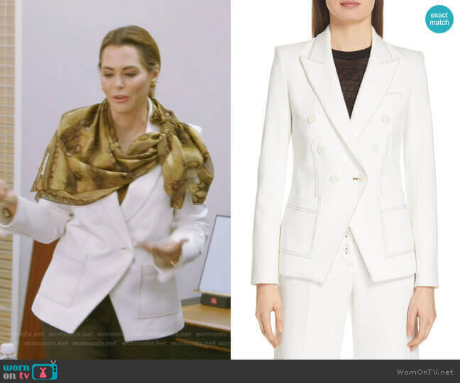 Cosmo Dickey Jacket by Veronica Beard worn by D'Andra Simmons  on The Real Housewives of Dallas