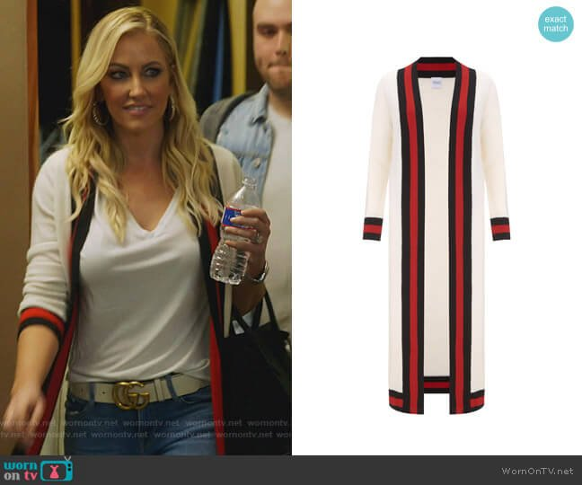 Calypso Cashmere Cardigan by Madeleine Thompson worn by Stephanie Hollman  on The Real Housewives of Dallas
