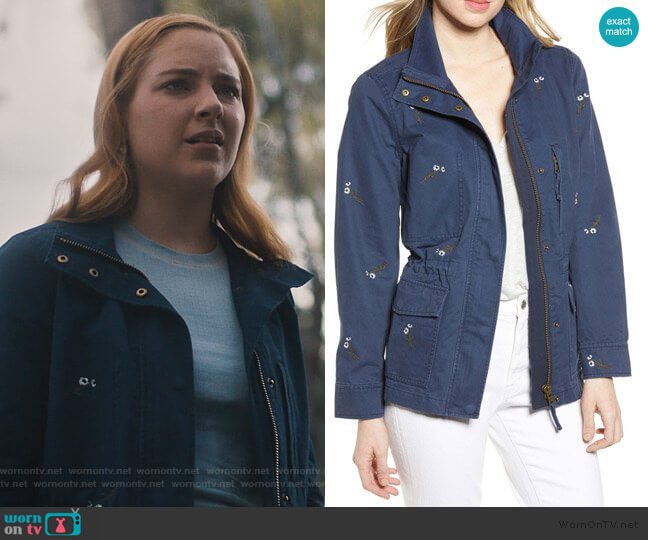Embroidered Passage Jacket by Madewell worn by Violet Simmons (Haley Ramm) on Light as a Feather