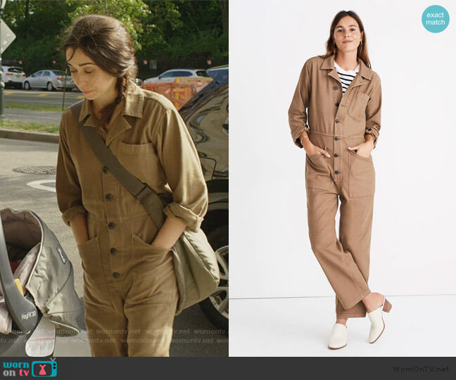 As Ever Coveralls by Madewell worn by Maggie Mitchell (Cristin Milioti) on Modern Love