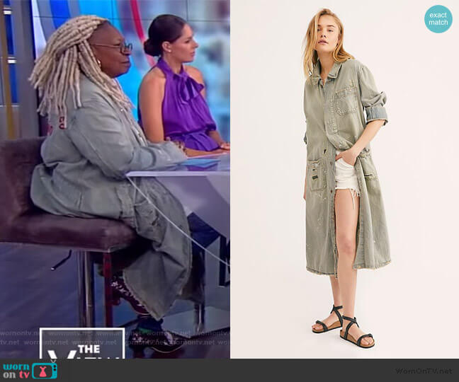 Tractor Co. Work Jacket by Free People worn by Whoopi Goldberg  on The View