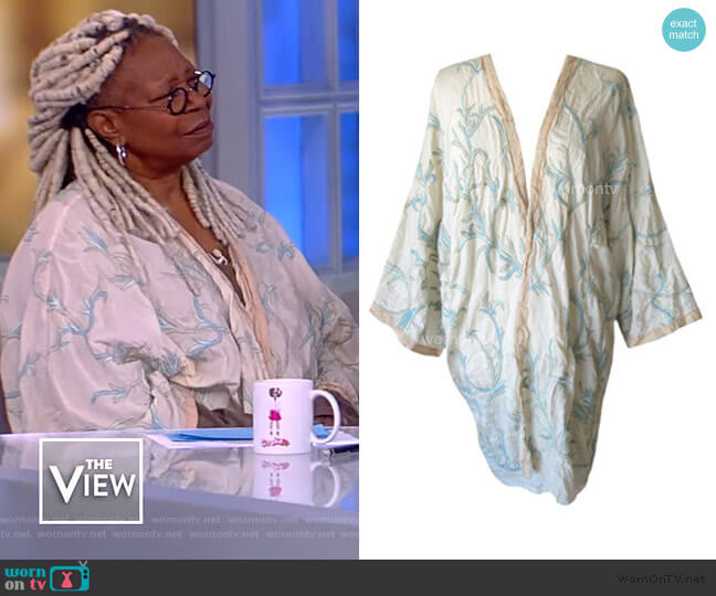 wrinkled cardigan on Magnolia Pearl worn by Whoopi Goldberg  on The View