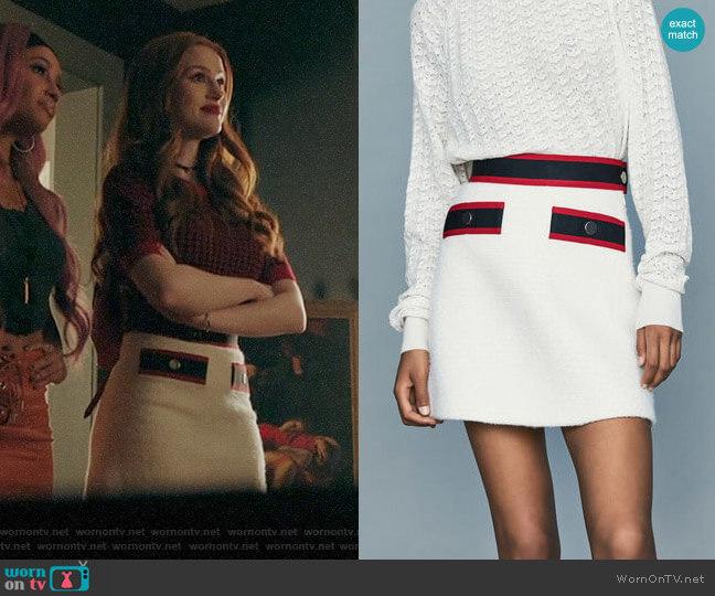 Maje Josine Skirt  worn by Cheryl Blossom (Madelaine Petsch) on Riverdale