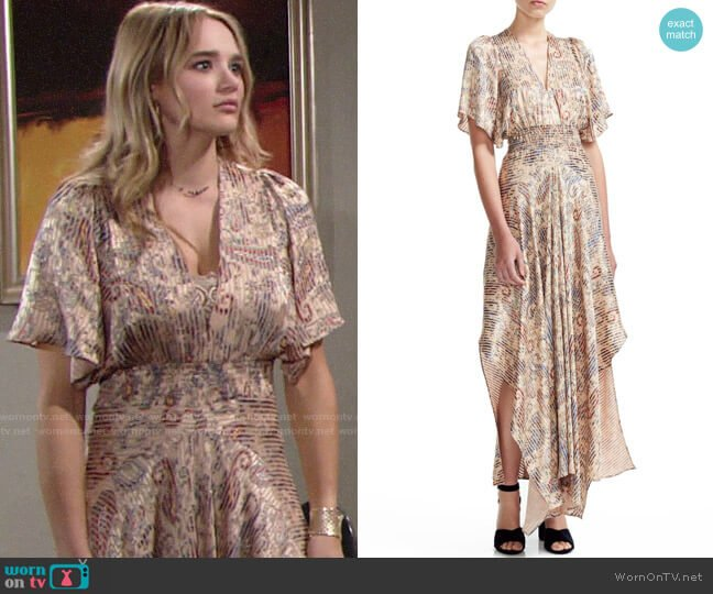 Maje Rachel Dress worn by Summer Newman (Hunter King) on The Young & the Restless