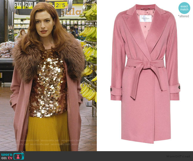 Nevada camel hair coat by Max Mara worn by Lexi (Anne Hathaway) on Modern Love