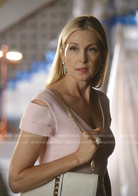 Melissa's pink cutout dress on Dynasty