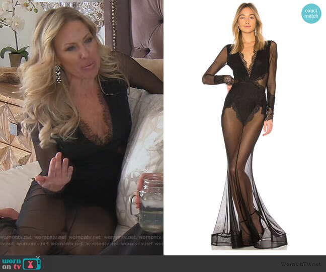 X Revolve Martin Gown by Michael Costello worn by Braunwyn Windham-Burke  on The Real Housewives of Orange County