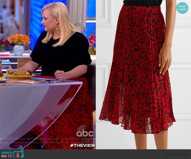 Floral Print Pleated Midi Skirt by MICHAEL Michael Kors worn by Meghan McCain  on The View
