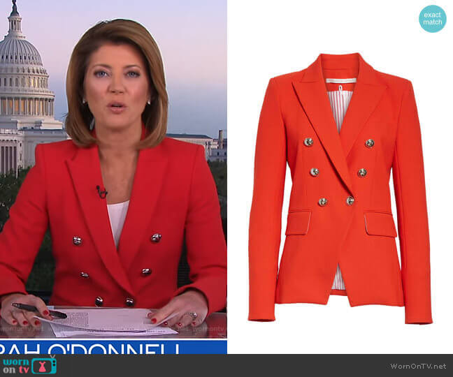 Miller Jacket by Veronica Beard worn by Norah O'Donnell  on CBS Evening News