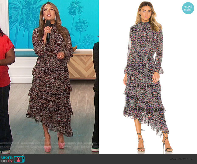 Rania Dress by Misa worn by Carrie Inaba  on The Talk
