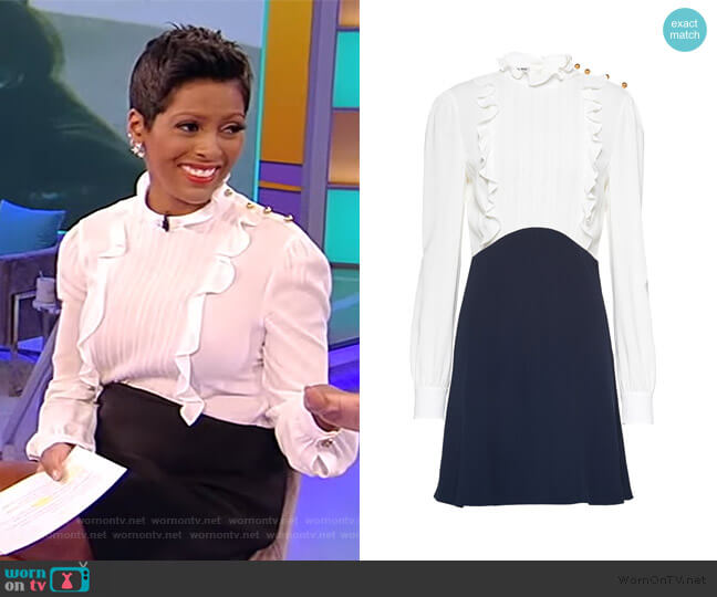 Cady and Sable Dress by Miu Miu worn by Tamron Hall  on Tamron Hall Show