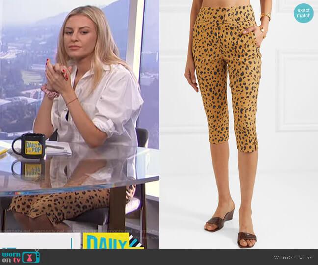 Cropped leopard-Print Tencel-Blend Pants by Nicholas worn by Morgan Stewart  on E! News