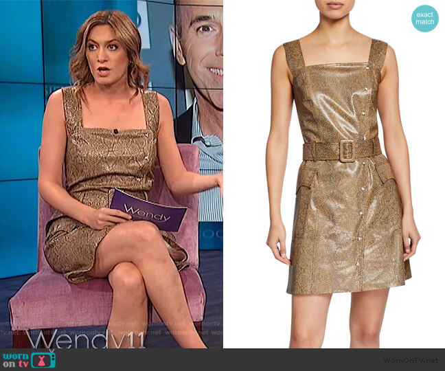 Wornontv Elizabeth Wagmeister S Snakeskin Vinyl Dress On