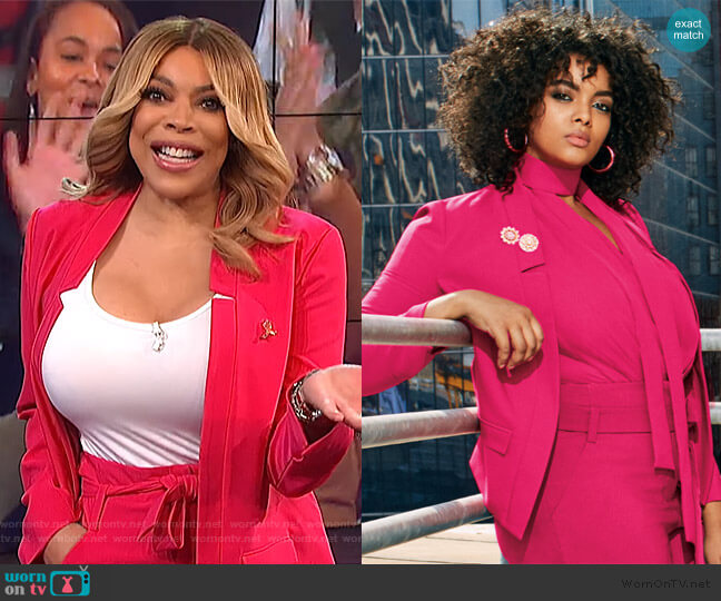 Soft Madie Blazer by New York & Company worn by Wendy Williams  on The Wendy Williams Show