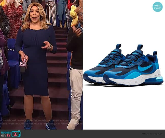 Air Max 270 React Sneaker by Nike worn by Wendy Williams  on The Wendy Williams Show