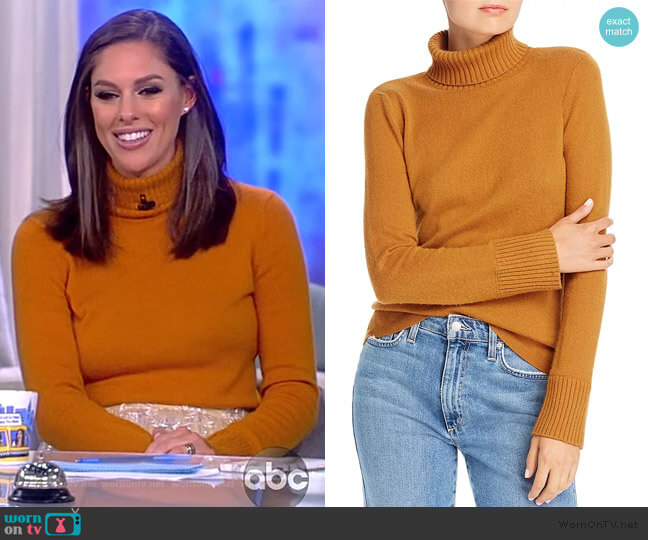 Miranda Cashmere Turtleneck Sweater by Notes du Nord worn by Abby Huntsman  on The View