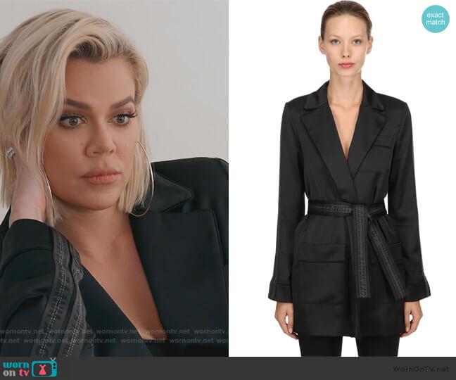 Logo Bands Pajama Kimono Jacket by Off White worn by Khloe Kardashian  on Keeping Up with the Kardashians