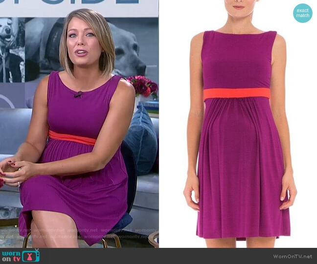 Contrast Banding Maternity Dress by Olian worn by Dylan Dreyer  on Today