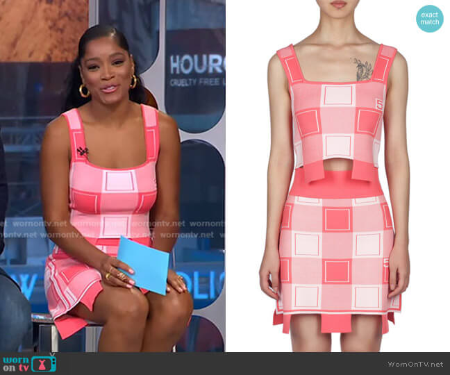 Lay Crop Tank Top and Oxford Mini Skirt by PH5 worn by Keke Palmer  on Good Morning America