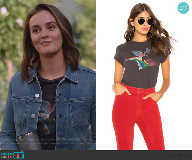 Unicorn Crew Neck Tee by Pam & Gela worn by Angie (Leighton Meester) on Single Parents